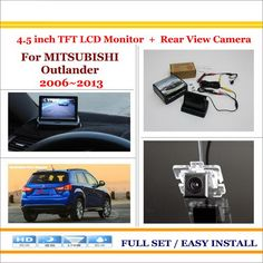 """Auto Rear View Camera Back Up + 4.3"""" LCD Monitor = 2 in 1 Parking Assistance System / For Mitsubishi Outlander 2006~2013"""