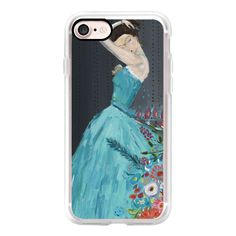 Boho girl Silent Melody Fashion Illustration by Bari J. - iPhone 7... ($40) ❤ liked on Polyvore featuring accessories, tech accessories, iphone case, apple iphone cases, iphone cases, iphone hard case and iphone cover case