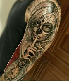 50 la catrina tattoo designs for men - mexican ink ideas Trendy Tattoos, New Tattoos, Body Art Tattoos, Girl Tattoos, Tattoos For Guys, Tatoos, Tattoo Art, Crazy Tattoos, Maori Tattoos