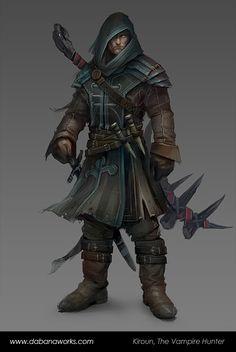 """""""Kiroun, the Vampire Hunter"""", Jaime Martinez on ArtStation at http://www.artstation.com/artwork/kiroun-the-vampire-hunter"""