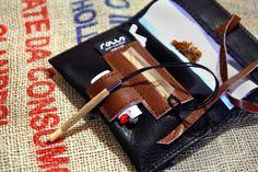 Blague a tabac fabriqué en Italie - bourse cuir