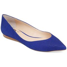 Vince Camuto Hillis Flats Women's Shoes (6.980 RUB) ❤ liked on Polyvore featuring shoes, flats, royal blue, shiny shoes, electric blue shoes, royal blue flat shoes, polish shoes and royal blue flats