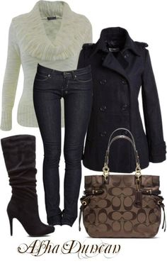 Love down to the boots & Coach purse
