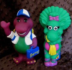 Barney Purple Dinosaur Baby Bop Coin Money Piggy Banks figures TV Show RET VHTF #Lyons