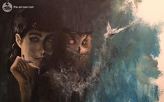My acrylic painting of Rachel from BLADE RUNNER