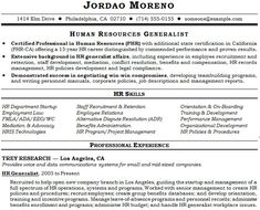 human resource generalist resume example - Human Resources Generalist Resume