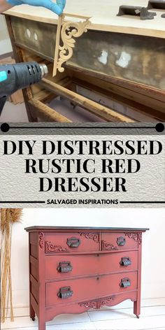 Cheap Furniture Makeover, Diy Furniture Renovation, Diy Dresser Makeover, Diy Furniture Projects, Refurbished Furniture, Paint Furniture, Repurposed Furniture, Diy Furniture Repurpose, Rustic Painted Furniture