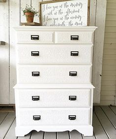 rustandrelics | Furniture-Tall White Dresser $150 from Rust & Relics LLC. Get Industrial Farmhouse Furniture, Decor, Accessories and MORE for CHEAP from Rust & Relics LLC. Farmhouse Clock, Farmhouse Kitchen, Farmhouse Decor, Interior Design, Home Staging, Store, E-design, Wedding Rentals and MORE!! Your NEW favorite site for all things Farmhouse, Rustic, Modern and Industrial.