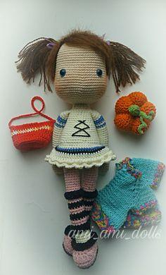 Crochet amigurumi doll handmade doll pumpkin minicrochet doll #crochetdoll #crochet #doll #amigurumi