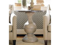 This statuesque table adds style to any room.