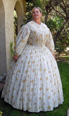 Truly Victorian :: Romantic and Civil War Patterns 1830-1868 :: 1863 Sheer Dress
