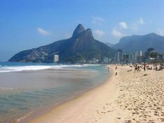 Ipanema Beach, Brazil. Laying in the sun sipping from a coconut and people watching. Makes for a GREAT day.