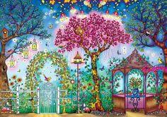 Secret Garden: Songbird Garden (500 Piece Puzzle by Buffalo Games)