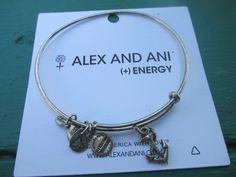 Alex and Ani silver tone  small anchor bangle- rare! bracelet retired #AlexandAni #Bangle