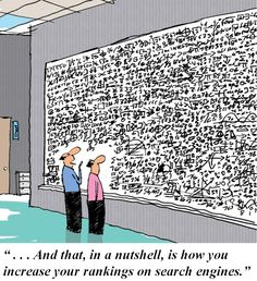 Cartoon = Search Engine Rankings