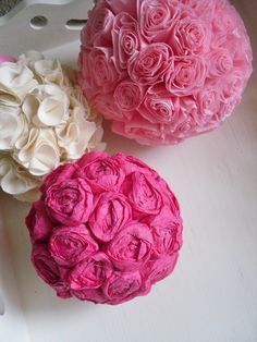 PATTERN - DIY 2 PDF ePattern Tutorials - Paper Flower Bloom Balls - 2 Patterns Included - Use the Rosette Pattern for Making Hair Rosettes. $7.50, via Etsy.