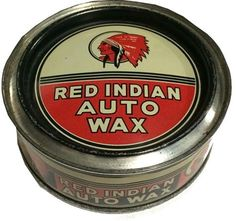 Rare Red Indian Wax Tin