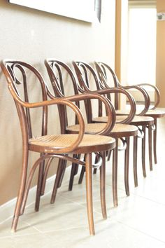 Set of FOUR Vintage Bentwood Thonet Arm Cane Chairs by SoLoMarket, $400.00