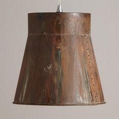One of my favorite discoveries at WorldMarket.com: Distressed Metal Bucket Pendant