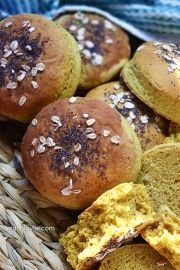 Homemade Burger Buns with Turmeric and Coconut