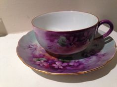 Vintage Victoria Austria Tea Cup and Saucer by TheDaintyBullet, $25.00