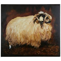 """""""Unfinished Ram,"""" Robert Kitchen, Oil on Canvas 
