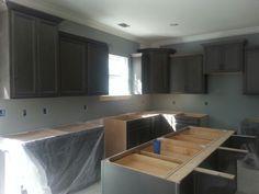 New house kitchen.  Graphite cabinets