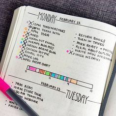 """""""Tweaking my daily layout for day 14 (or Although I love doodling in my dailies, I felt like changing it up this week."""