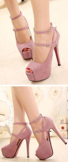 Mauve Strappy Heels