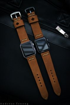 Handmade Vintage Leather Strap BF08 incl. by BlackForestAtelier
