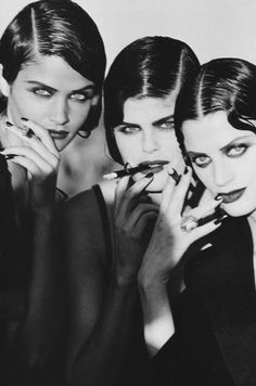 Helena Christensen and others Marrakesh by Peter Lindbergh 1990