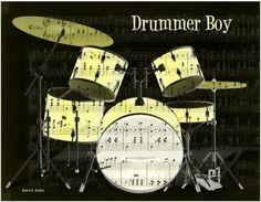 Drummer Boy print from Etsy