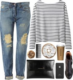 Untitled #41 by veronika-m featuring blue jeans