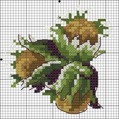 Cross Stitch Fruit, Small Cross Stitch, Cross Stitch Kitchen, Cross Stitch Tree, Beaded Cross Stitch, Cross Stitch Flowers, Cross Stitch Charts, Cross Stitch Embroidery, Embroidery Patterns