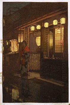 A Little Restaurant  by Hiroshi Yoshida, 1933