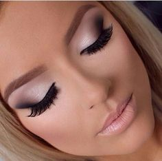 Flawless icy pink makeup