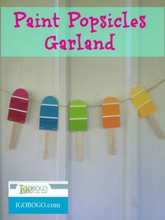 Paint Popsicles Garl