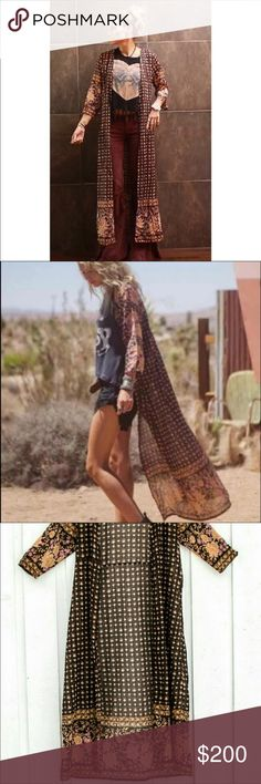 Spell & the Gypsy Desert Rose Duster OS RARE Rare gorgeous Spell Duster One Size! New with tags; never worn! Can do better on another selling platform! Please ask listed elsewhere! Spell & The Gypsy Collective Other