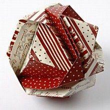 Kugle foldet af papir