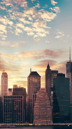 Cityscape Skyline High Buildings Skyscrapers Sunset #iPhone #6 #plus #wallpaper