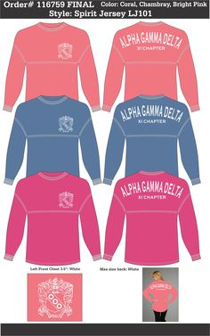 bd336961e1946c Alpha Gamma Delta T-Shirts That Rock Just email this proof to us and we ll  customize it for your chapter.