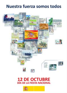 12 de octubre Spanish Class, Teaching Spanish, Infographic, Photo Wall, Education, Frame, Culture, Maps, Columbus Day