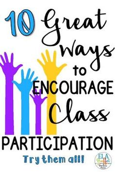 Get full class participation and improve the atmosphere in your classroom with these awesome tips! Classroom Management Strategies, Teaching Strategies, Teaching Tips, College Teaching, Behaviour Management, New Teachers, Elementary Teacher, Elementary Library, Upper Elementary