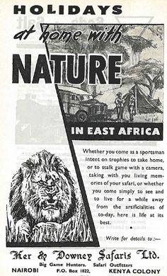 Ker & Downey Safaris Ltd Kenya Ad 1959