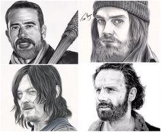 Negan, Jesus, Daryl, Rick