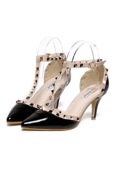 Rivet Thin High Heel Shoes Pointed Middle Heel All-match Sandals black - Intl | ราคา: ฿1,548.00 | Brand: Unbranded/Generic | See info: http://www.topsellershoes.com/product/50498/rivet-thin-high-heel-shoes-pointed-middle-heel-all-match-sandals-black-intl