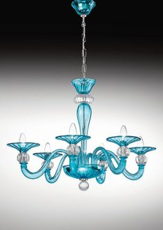 Venezia Collection, Murano glass chandeliers. modern...would love this over my claw foot tub.