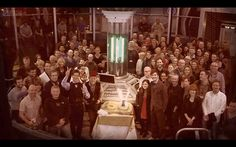 Cast and Crew of the 50th Aniversary  JOHN HURT IS WEARING THE FEZ I REPEAT JOHN HURT IS WEARING THE FEZ THEY DID END UP GETTING IT ON HIM