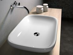 Vasque à poser CLEAR CLE4266001 by Olympia Ceramica