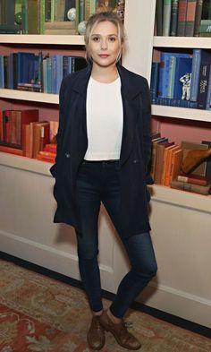 Get Elizabeth Olsen's fall looks from the Savannah Film Festival. #style #fashion #LizzieOlsen